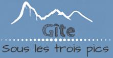 Logo du gîte sous les trois pics